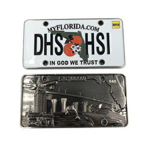 H-001 HSI Florida License Plate Challenge Coin Special Agent