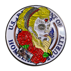 Harley Quinn Suicide Squad inspired Homeland Security Challenge Coin Police Day of the Dead