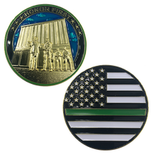 K-016 Thin Green Line BORDER PATROL at The Wall CBP Challenge Coin