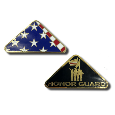 Honor Guard Folded Flag Challenge Coin Police CBP Military