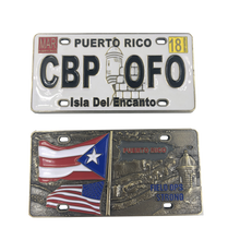H-005 Puerto Rico License Plate Challenge Coin san juan