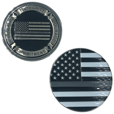 G-021 Thin Gray Line Core Values Challenge Coin Police Correctional Officer Corrections CO