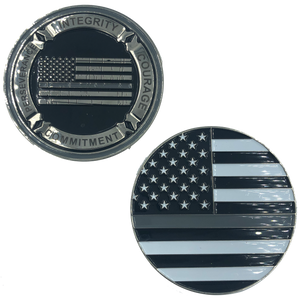 Thin Gray Line Core Values Challenge Coin Police Correctional Officer Corrections CO