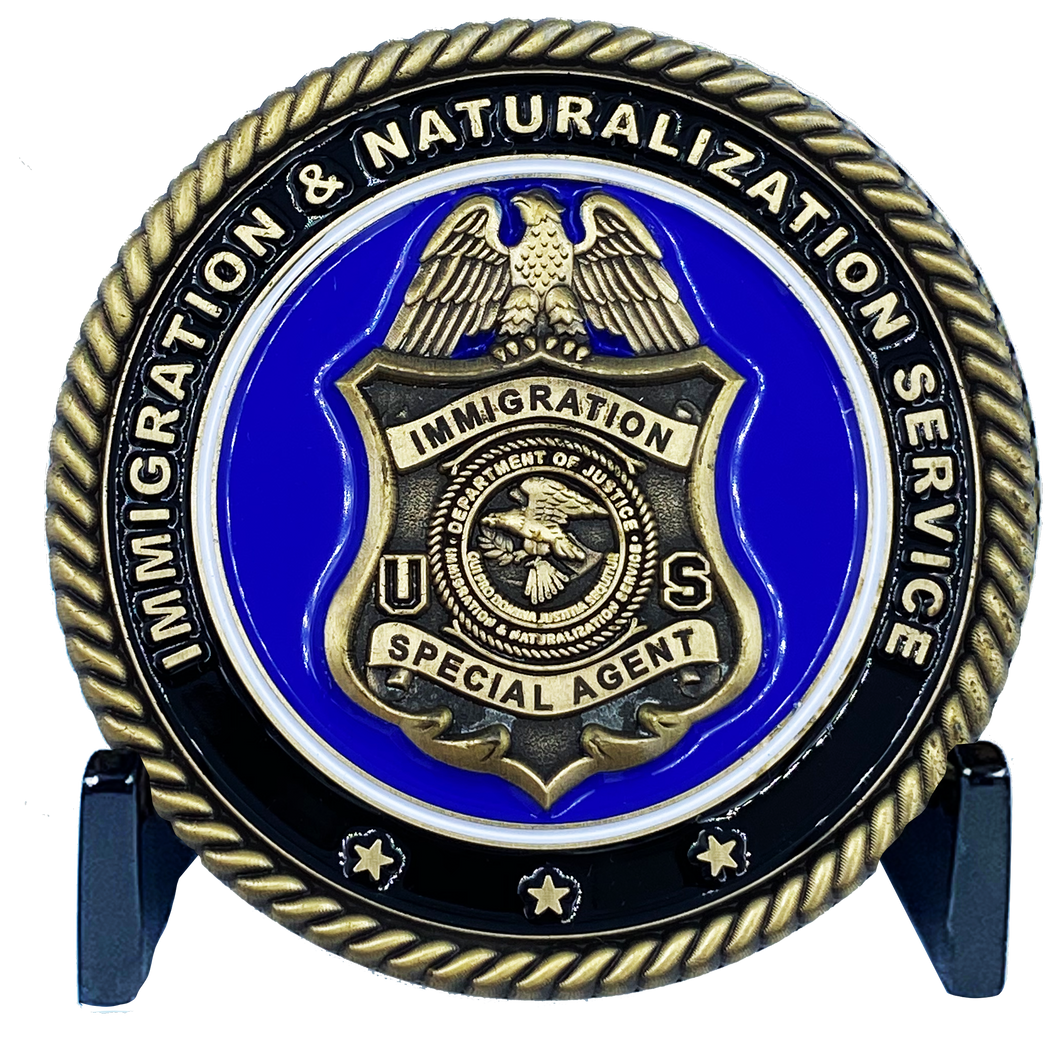 DL2-14 Immigration and Naturalization Service INS & Legacy DOJ Challenge Coin Special Agent not CBP