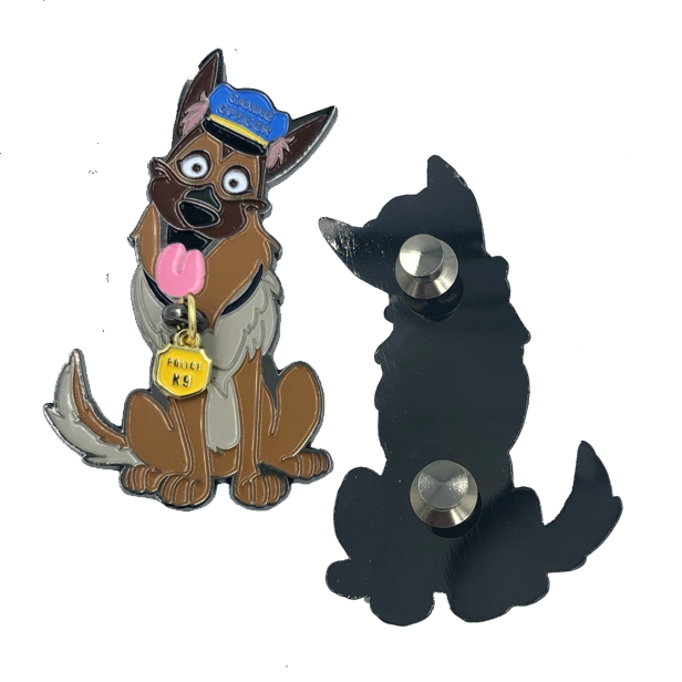 LL-006 K9 Prayer Challenge Coin pin for Canine Officer police