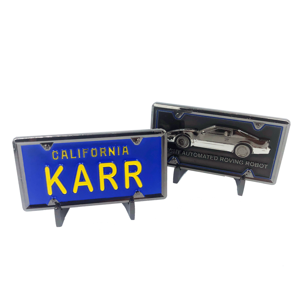 KK-019 KARR License Plate Challenge Coin Medallion (not Knight Rider)