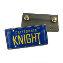 FF-016 KNIGHT License Plate Medallion Pin with dual pin backs KITT