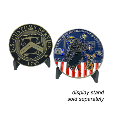 BB-010 Legacy US Customs Service Canine Enforcement Officer Treasury Department Inspector K9 Challenge Coin