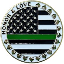 CL3-06 I Love My Agent Border patrol Wife Thin Green Line CBP Challenge Coin