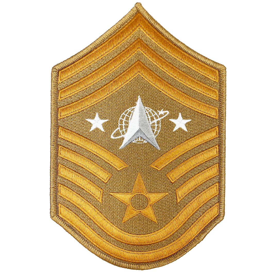 DL3-09 United States Space Force Lunar Desert Camo Moon Patch U.S. Department of the Air Force Senior Enlisted Advisor Chief Master Sergeant Rank