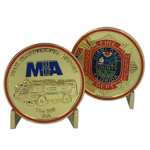 I-014 MIAMI DADE County FIRE RESCUE MIA International Airport CHALLENGE COIN department