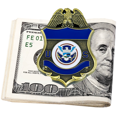 EL10-006 Police Federal Agent Sheriff Money Clip CBP Border Patrol Air and Marine AMO Wallet alternative