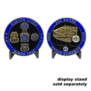 BB-016 Yankees Mariano Rivera inspired NYPD tribute challenge coin police officer detective commissioner