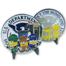 Despicable Me Minions Nation Parody Challenge Coin CBP Border Patrol HSI Gru Field Operations not Disney