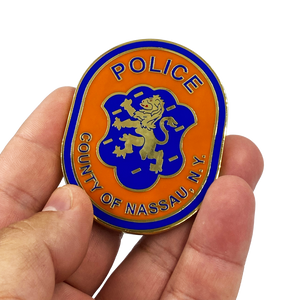 DD-012 LI Nassau County Police Department Long island Dept. Challenge Coin thin blue line NCPD