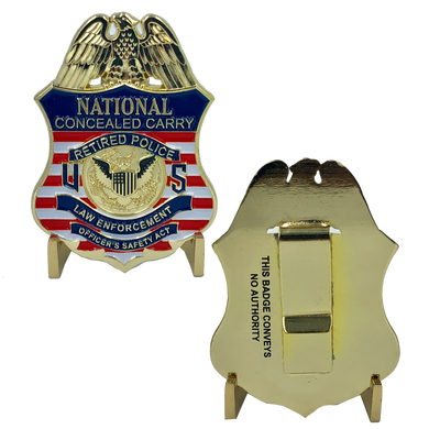 National Concealed Carry Retired Police Badge LEOSA