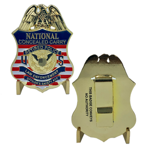 F-019 National Concealed Carry Retired Police Badge LEOSA