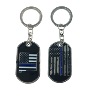 II-014 New Mexico Thin Blue Line Challenge Coin Dog Tag Keychain Police Law Enforcement