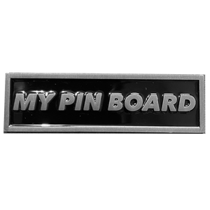 DL6-06 Pin Board name plate pin for pin collectors pin board collections (nickel)