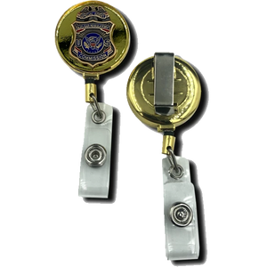 EL1-10 Nuclear Commission Regulatory Commission Special Agent Retractable ID reel metal ID card holder