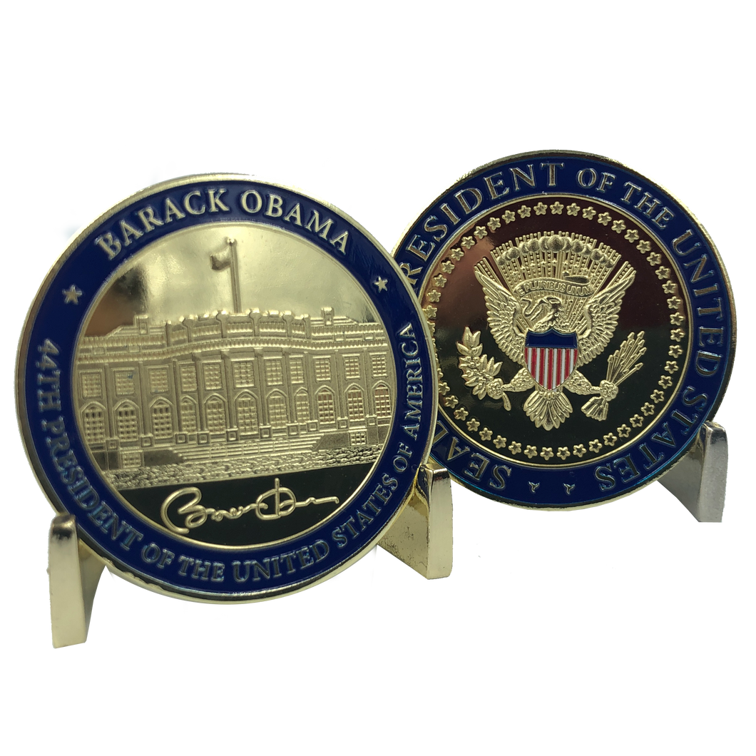 E-022 44th President Barack Obama Challenge Coin White House POTUS
