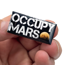 EL6-014 Elon Musk OCCUPY MARS pin SpaceX Tesla pin with 2 pin posts