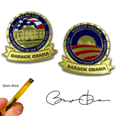 AA-018 President Barack Obama 44 MAGA Yes We Can POTUS White House Challenge Coin