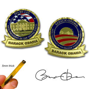 President Barack Obama 44 MAGA Yes We Can POTUS White House Challenge Coin