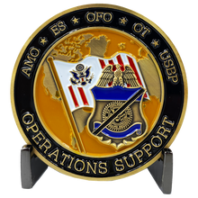 CL10-01 CBP AMO ES OFO OT USBP Border Patrol Field Ops Air Marine Operations Support Challenge Coin