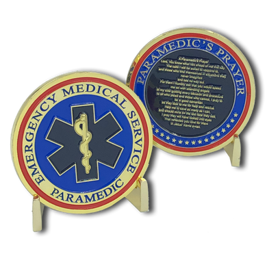 I-016 Paramedic's Prayer Challenge Coin