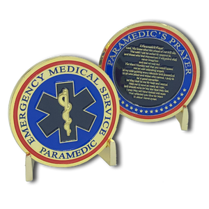 Paramedic's Prayer Challenge Coin
