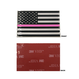 Thin Pink Line US Flag Vehicle Emblem high-end metal decal with 3M VHB Tape Police CBP LEO