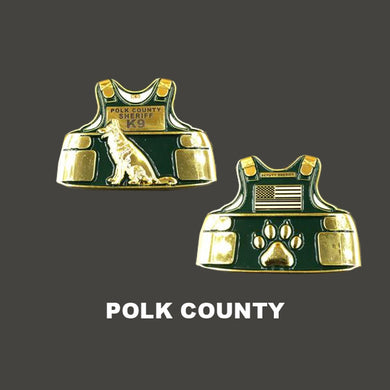 L-01 Polk County K9 Body Armor Police Challenge Coin Canine Sheriff's Office