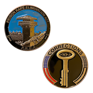 BB-006 PREA Prison Rape Elimination Act Correctional Officer Challenge Coin Corrections CO
