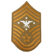 DL5-07 Senior Enlisted Advisor to the Chairman of the Joint Chiefs of Staff Air Force Senior Enlisted Advisor Chief Master Sergeant Desert Camo Rank (Right facing Eagle) USAF Patch