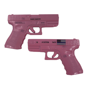F-009 Pink Glock inspired F*CK CANCER Challenge Coin CBP POLICE FBI Secret Service ATF FAM Thin Blue Line