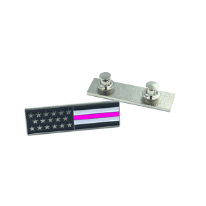 Thin Pink Line U.S. Flag Commendation Bar uniform Pin Police Breast Cancer