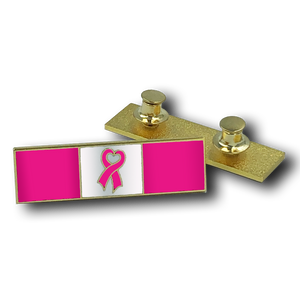 Breast Cancer Pink Ribbon Commendation Bar Pin