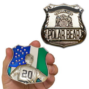 DD-020 Polar Bear NY Mets Pete Alonso inspired NYPD Challenge Coin