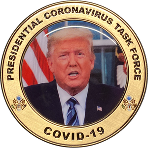 JJ-008 Presidential Task Force Trump Challenge Coin