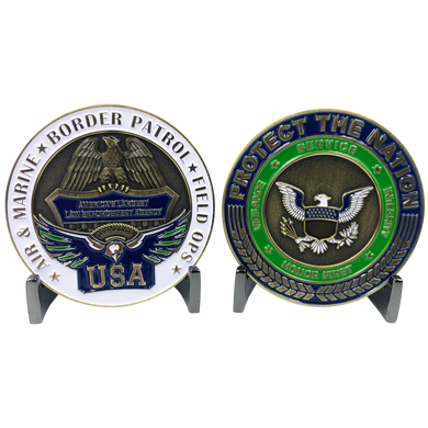 CL-SS CBP Protect the Nation Border Patrol Field Ops AMO BP Operations Challenge Coin