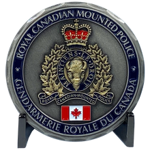 DL3-05 Royal Canadian Mounted Police Canada Thin Blue Line RCMP Challenge Coin