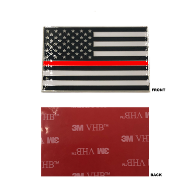 Thin Red Line US Flag Vehicle Emblem high-end metal decal with 3M VHB Tape Fire Fighter Fireman