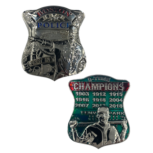 KK-007 Boston Police Red Sox inspired 9 Time Champions Challenge Coin