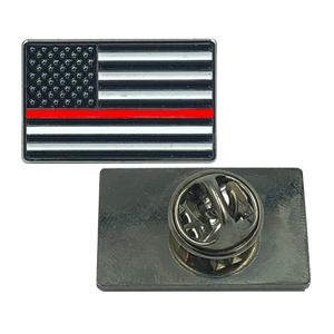 RED Line Flag Pin: FIRE FIGHTER and FIRE RESCUE