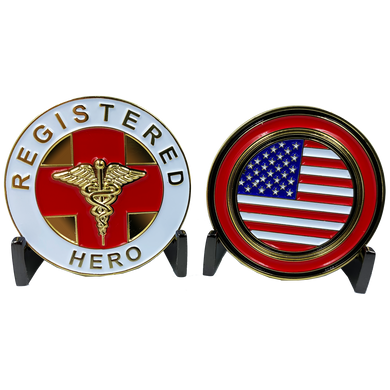CL-JJ Registered Hero Challenge Coin for Nurses, Doctors, Paramedic, EMT, BSN, RN