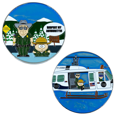 Border Patrol South Park Parody Challenge Coin Police Air and Marine