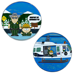 BB-017 Border Patrol South Park Parody Challenge Coin Police Air and Marine Respect My Authority