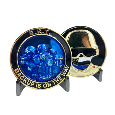 A-006 SRT OPERATOR police challenge coin Thin Blue Line NYPD LAPD CHICAGO FBI CBP