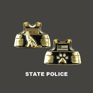 State Police K9 Body Armor Challenge Coin Canine Trooper